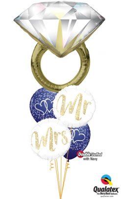 Bukiet 1170 Mr. & Mrs. Diamond Ring Qualatex #57819 57316 57313 37200-2 57127-2