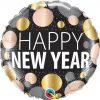 18″ / 46cm New Year Metallic Dots Qualatex #58163