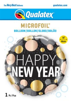 18″ / 46cm New Year Metallic Dots Qualatex #58163