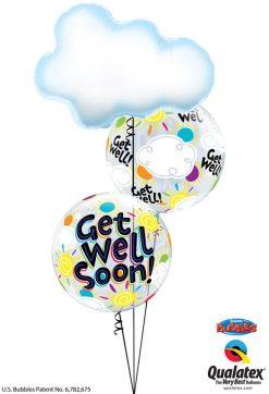 Bukiet 1217 Get Well Soon! Clouds & Sunshine Qualatex #78553 49337-2