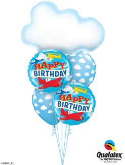 Bukiet 1210 Flying High Above the Clouds Birthday Qualatex #78553 57796-2 53436-2
