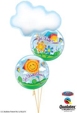Bukiet 1216 Get Well Clouds & Kites Qualatex #78553 68654-2
