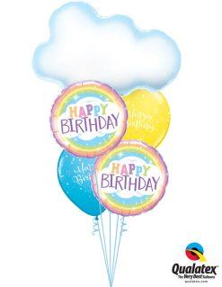 Bukiet 1212 Radiant Birthday Rainbows Qualatex #78553 78658-2 11983-2