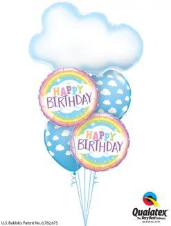 Bukiet 1211 Radiant Birthday Rainbows Qualatex #78553 78658-2 53436-2