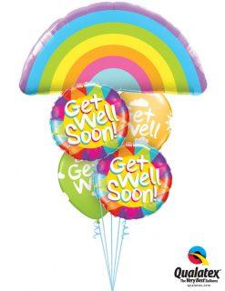 Bukiet 1208 Rainbow Get Well Qualatex #78556 49206-2 50204-2
