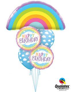 Bukiet 1206 Birthday Rainbows Galore Qualatex #78556 78658-2 53436-2