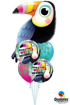 Bukiet 1199 A Very Beaky Birthday! Qualatex #78563 78660-2 36099-2