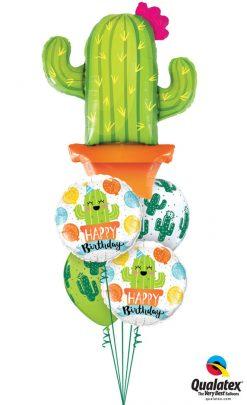 Bukiet 1201 Little Cacti Birthday Guy Qualatex #78652 78664-2 80570-2
