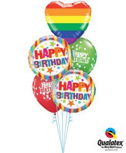 Bukiet 1230 A Very Happy Birthday! Qualatex #78715 16770-2 52962-2