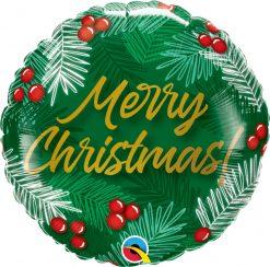 18″ / 46cm Christmas Greens & Berries Qualatex #89853