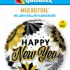 18″ / 46cm New Year Black & Gold Fans Qualatex #89858