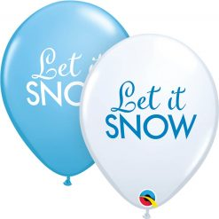 "11"" / 28cm Simply Let It Snow Asst of White, Robin's Egg Blue Qualatex #97346-1"