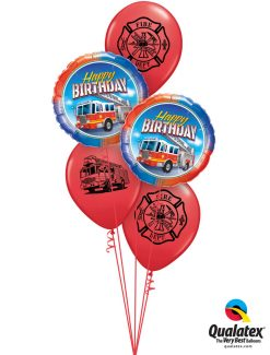 Bukiet 1252 Happy Birthday Fireman Qualatex #41686-2 86598-3