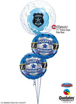 Bukiet 1259 Police Dept. Happy Birthday Qualatex #42671 85909-2 86592