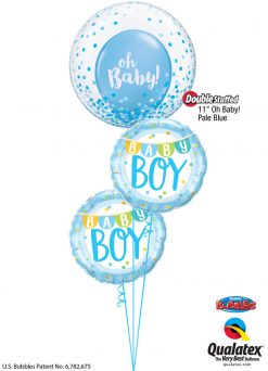 "Bukiet 1241 Blue ""Oh, Baby!"" Boy Qualatex #57789 85901-2 58118"