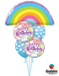 Bukiet 1265 Birthday Rainbows & Unicorns Qualatex #78556 88010-2 53436-2