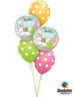Bukiet 1239 Baby Llama Polka Dots Qualatex #78689-2 86421-3