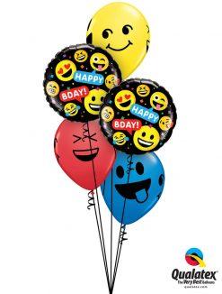 Bukiet 1248 Happy Birthday Smileys Qualatex #78718-2 85705-3