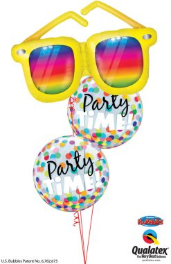 Bukiet 1261 Multicolored Party Time Qualatex #82650 23636-2