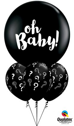 "Bukiet 1243 Big ""Oh, Baby!"" Question Mark Qualatex #85831 85843-3"