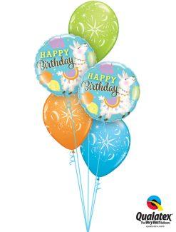 Bukiet 1250 Llamas & Sparkles Birthday Qualatex #85905-2