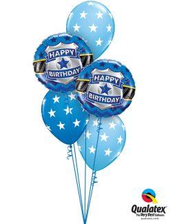 Bukiet 1251 Birthday Badge in Blue Qualatex #85909-2 18449-3