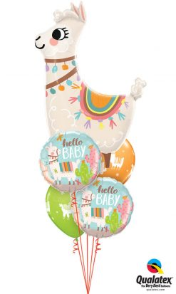 "Bukiet 1234 ""Loveable Llama"" Newborn Qualatex #85914 78689-2 86589-2"