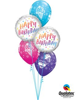 Bukiet 1283 Sweet & Colorful Birthday Treats Qualatex #87992-2 44797-3