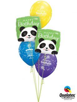 Bukiet 1281 Peek-a-Bear Panda Birthday Qualatex #87995-2 18374-3