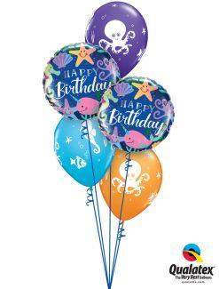 Bukiet 1282 Undersea Birthday Bash Qualatex #87998-2 28983-3