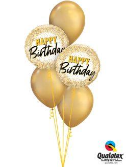 Bukiet 1280 Glamorous Golden Birthday Qualatex #88024-2 58271-3