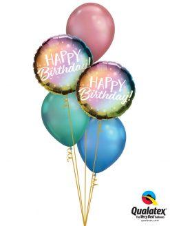 Bukiet 1274 Colorful Chrome Birthday Qualatex #88027-2 58273-1 58275-1 58272-1