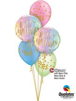 Bukiet 1275 Nifty Neon Birthday Qualatex #88052-2 56844-3 78389-1 74573-1 74572-1