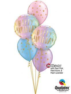 "Bukiet 1278 ""Pearl-licious"" Birthday Qualatex #88052-2 88399-3 43803-1 43766-1 43762-1"