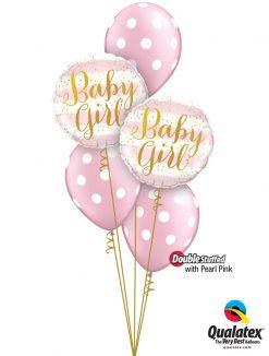 Bukiet 1289 Pearl Pink Baby Polka Dots Qualatex #88004-2 81680-3 43783-3
