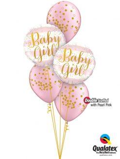 Bukiet 1291 Pearl Pink Baby Confetti Dots Qualatex #88004-2 56844-3 43783-3